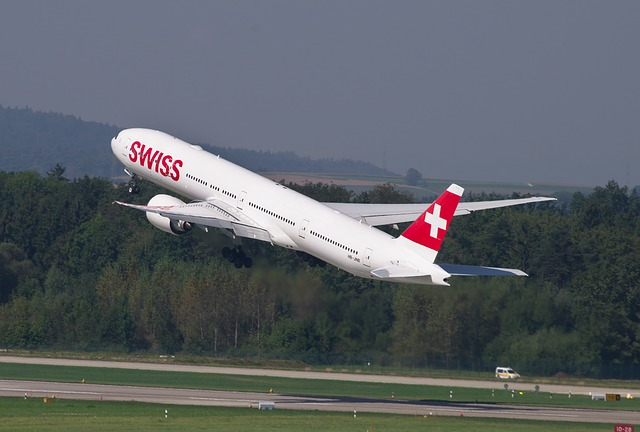 vzlétající letadlo
